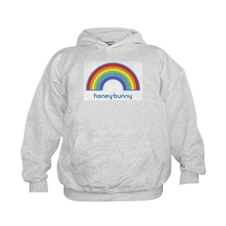 honey-bunny (rainbow) Kids Hoodie