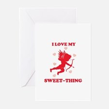 SWEET-THING (cherub) Greeting Cards (Pk of 10)