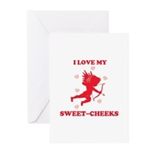 SWEET-CHEEKS (cherub) Greeting Cards (Pk of 10)