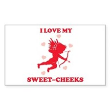 SWEET-CHEEKS (cherub) Rectangle Decal