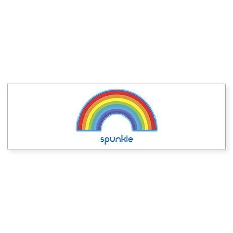 spunkie (rainbow) Bumper Sticker