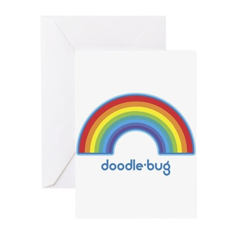 doodle-bug (rainbow) Greeting Cards (Pk of 10)
