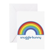 snuggle-bunny (rainbow) Greeting Cards (Pk of 10)