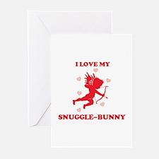 SNUGGLE-BUNNY (cherub) Greeting Cards (Pk of 10)