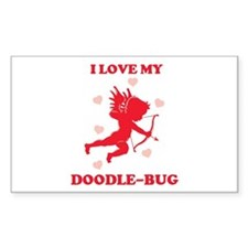 DOODLE-BUG (cherub) Rectangle Decal