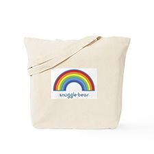 snuggle-bear (rainbow) Tote Bag