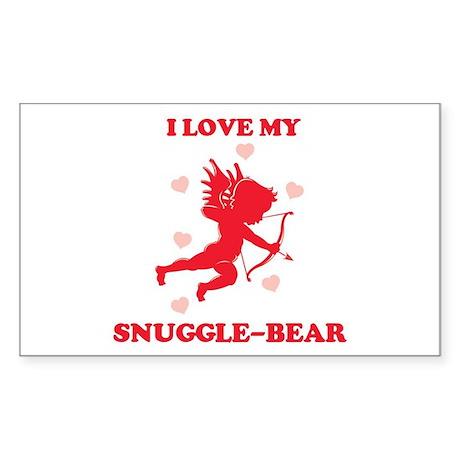 SNUGGLE-BEAR (cherub) Rectangle Sticker