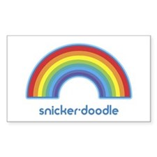 snicker-doodle (rainbow) Rectangle Decal