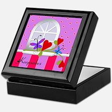 Beautiful Butterfly on Rose Keepsakes Memory Box