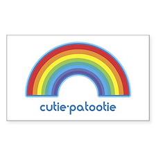 cutie-patootie (rainbow) Rectangle Decal