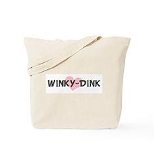 WINKY-DINK (pink heart) Tote Bag