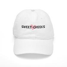 SWEET-CHEEKS (pink heart) Baseball Cap