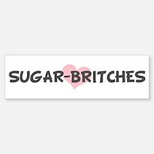 SUGAR-BRITCHES (pink heart) Bumper Car Car Sticker