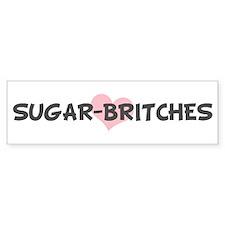 SUGAR-BRITCHES (pink heart) Bumper Car Sticker