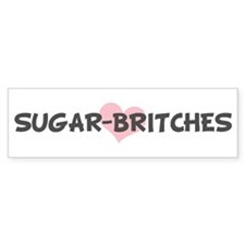 SUGAR-BRITCHES (pink heart) Bumper Stickers
