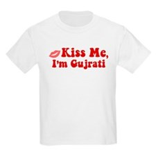 Kiss Me, I'm Gujrati. T-Shirt