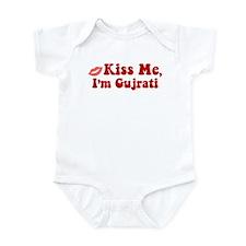 Kiss Me, I'm Gujrati. Infant Bodysuit