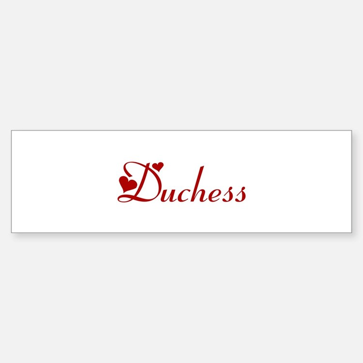 Duchess (hearts) Bumper Car Car Sticker