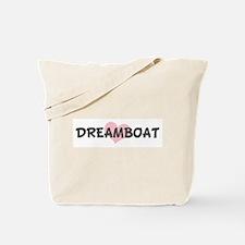DREAMBOAT (pink heart) Tote Bag