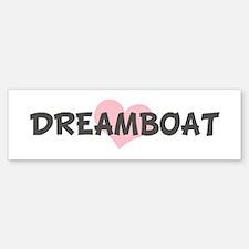 DREAMBOAT (pink heart) Bumper Car Car Sticker