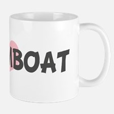 DREAMBOAT (pink heart) Mug