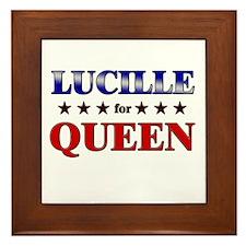 LUCILLE for queen Framed Tile