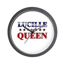 LUCILLE for queen Wall Clock