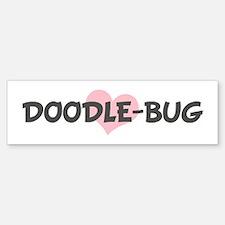 DOODLE-BUG (pink heart) Bumper Car Car Sticker