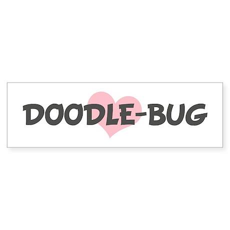 DOODLE-BUG (pink heart) Bumper Sticker