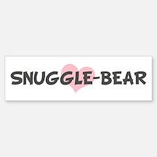 SNUGGLE-BEAR (pink heart) Bumper Bumper Bumper Sticker