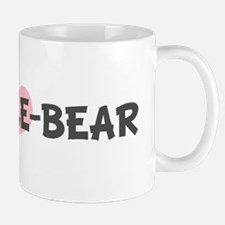SNUGGLE-BEAR (pink heart) Mug