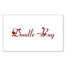 Doodle-Bug (hearts) Rectangle Decal