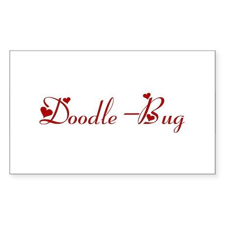 Doodle-Bug (hearts) Rectangle Sticker