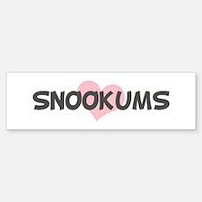 SNOOKUMS (pink heart) Bumper Car Car Sticker