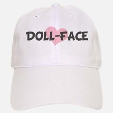DOLL-FACE (pink heart) Baseball Baseball Cap