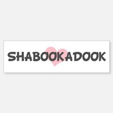 SHABOOKADOOK (pink heart) Bumper Car Car Sticker