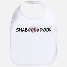SHABOOKADOOK (pink heart) Bib