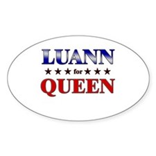 LUANN for queen Oval Decal