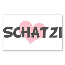 SCHATZI (pink heart) Rectangle Decal