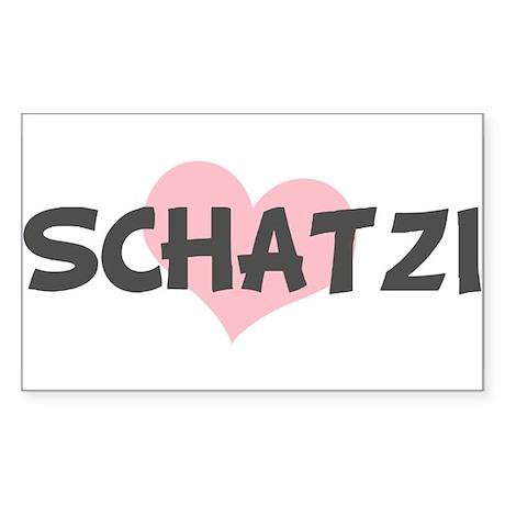 SCHATZI (pink heart) Rectangle Sticker