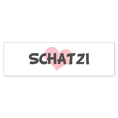 SCHATZI (pink heart) Bumper Sticker