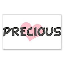 PRECIOUS (pink heart) Rectangle Decal