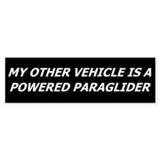 Powered Paraglider Bumper Bumper Sticker