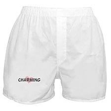 CHARMING (pink heart) Boxer Shorts