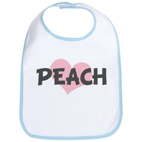 PEACH (pink heart) Bib