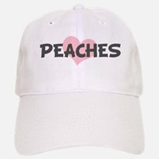 PEACHES (pink heart) Baseball Baseball Cap