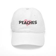 PEACHES (pink heart) Baseball Cap