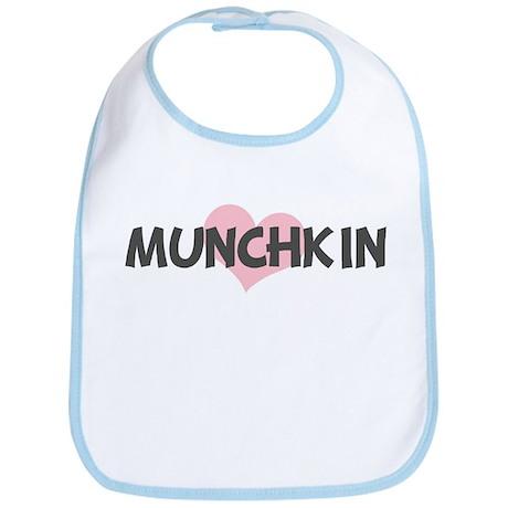MUNCHKIN (pink heart) Bib