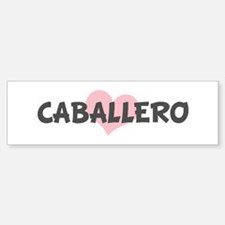 CABALLERO (pink heart) Bumper Car Car Sticker