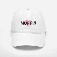 MUFFIN (pink heart) Baseball Baseball Cap